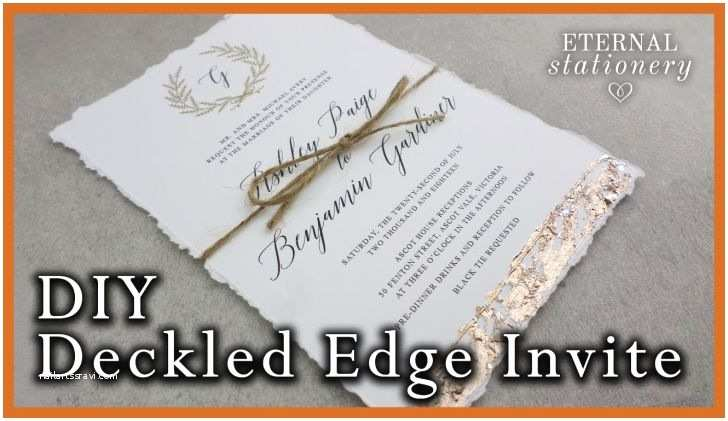 Deckle Edge Paper Wedding Invitations Diy Gatefold Wedding Invitations Premium Wedding Ideas