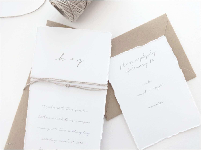 Deckle Edge Paper Wedding Invitations Il Fullxfull Ivbj