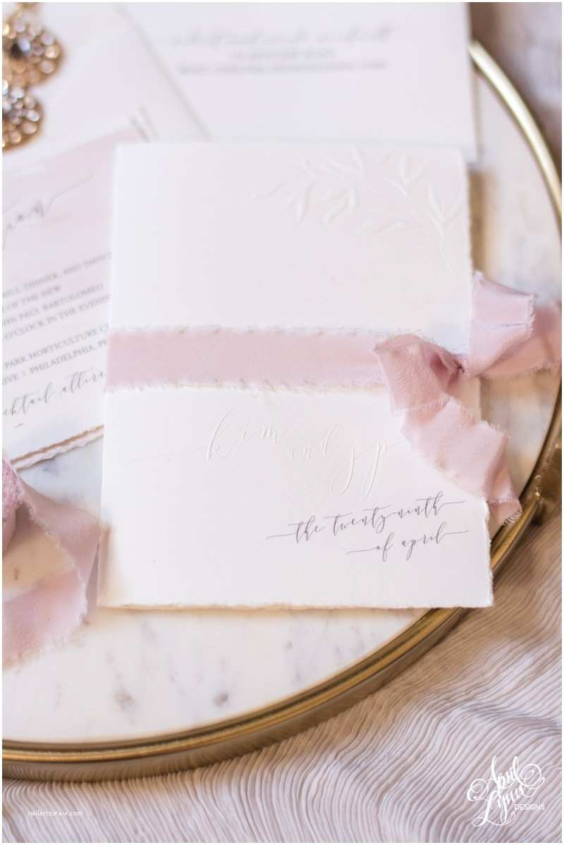 Deckle Edge Paper Wedding Invitations Kim Jp's Embossed Blush Watercolor Wedding Invitation