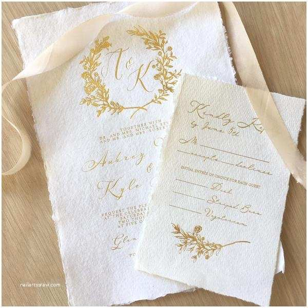 Deckle Edge Paper Wedding Invitations Letterpress Wedding Invitations and Letterpress Business