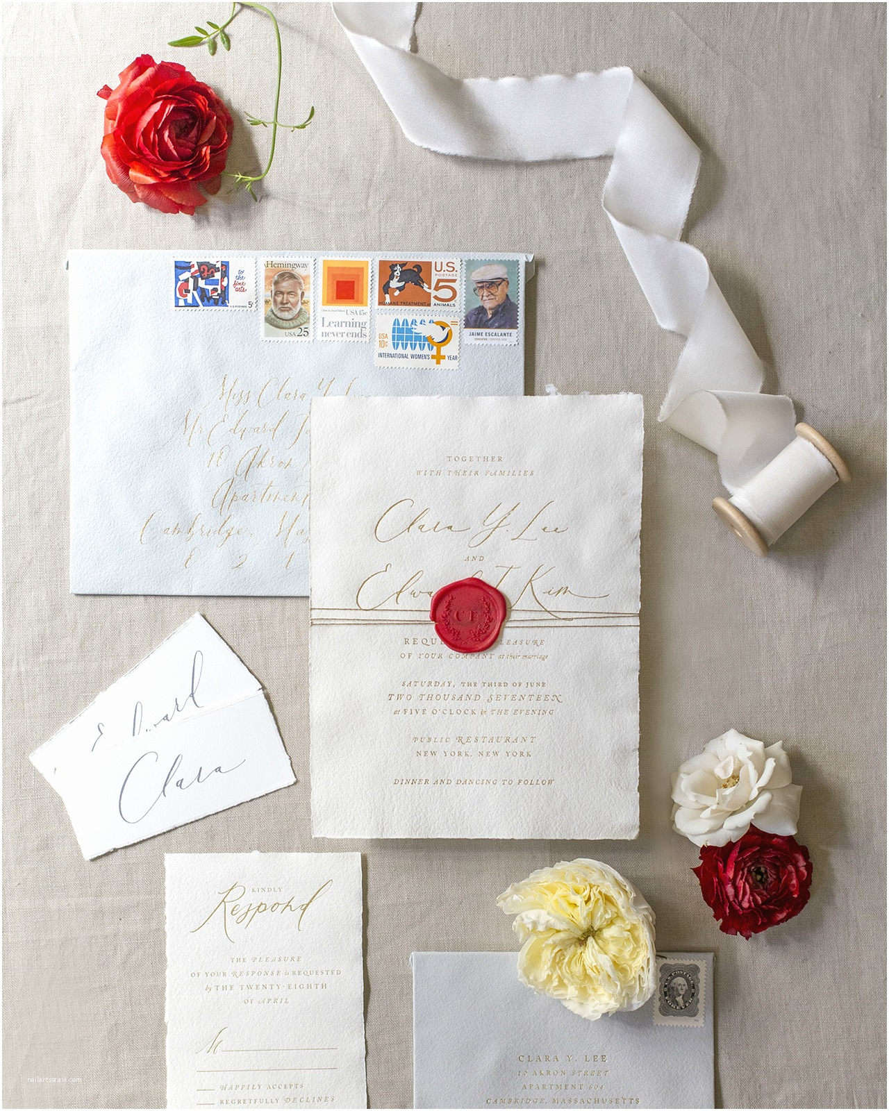 Deckle Edge Paper Wedding Invitations Oh so Beautiful Paper A Celebration Of All Things Paper
