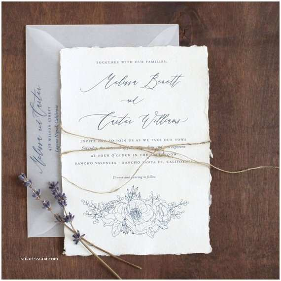 Deckle Edge Paper Wedding Invitations Silver Deckle Edge Wedding Invitations – Mini Bridal
