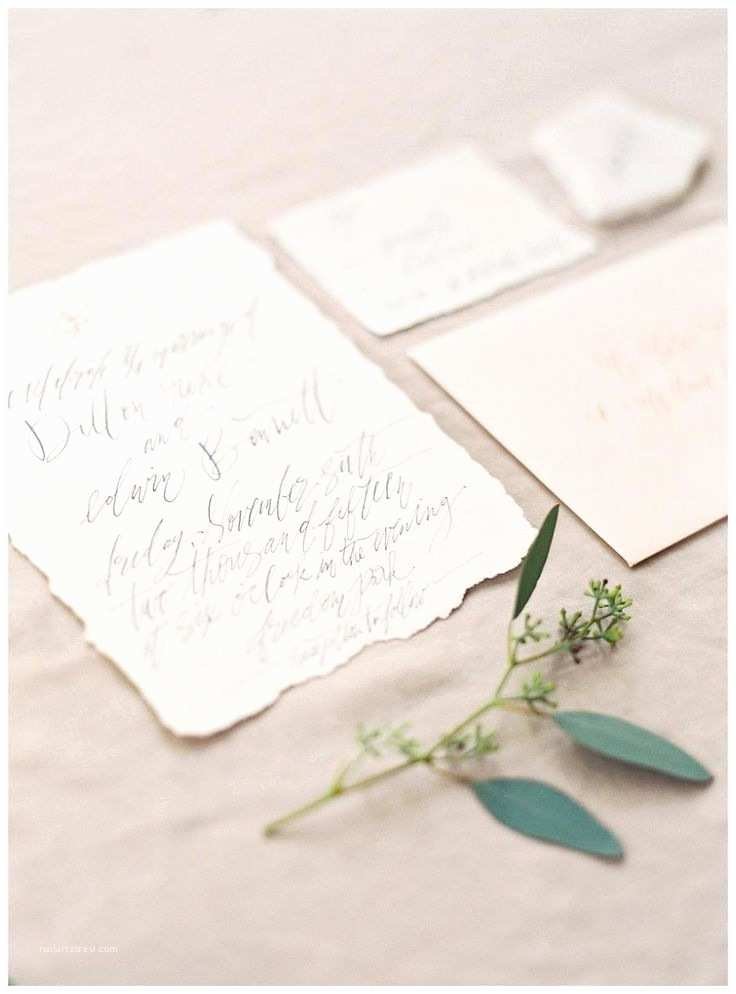 Deckle Edge Paper Wedding Invitations Wedding Invitation Suite On Deckle Edge Paper with Elegant