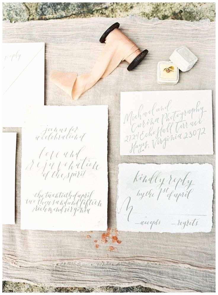 Deckle Edge Paper Wedding Invitations Wedding Invitation Suite On Deckle Edge Paper with