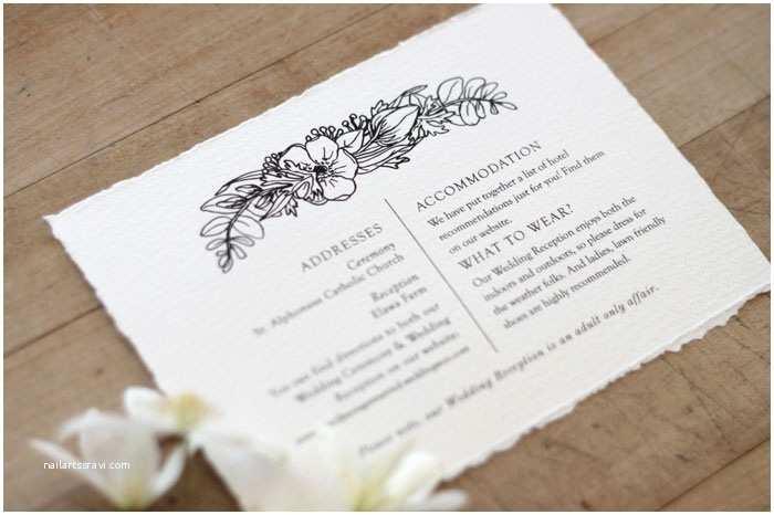 Deckle Edge Paper Wedding Invitations Wedding Stationery Alison & Jason