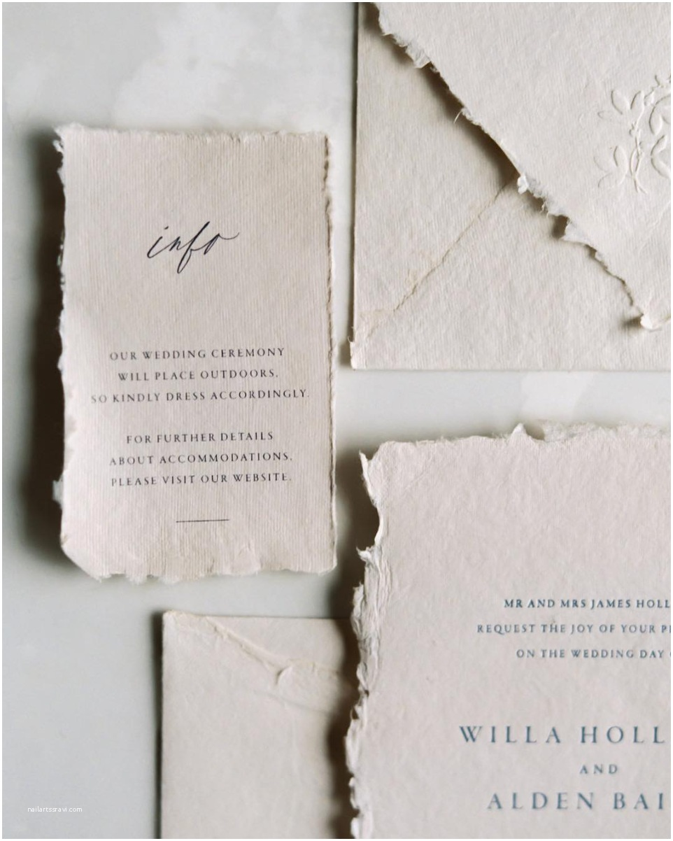 Deckle Edge Paper Wedding Invitations where to Find Handmade Deckle Edge Paper
