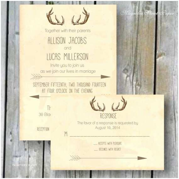 Deer Antler Wedding Invitations 25 Best Ideas About Deer Antler Wedding On Pinterest