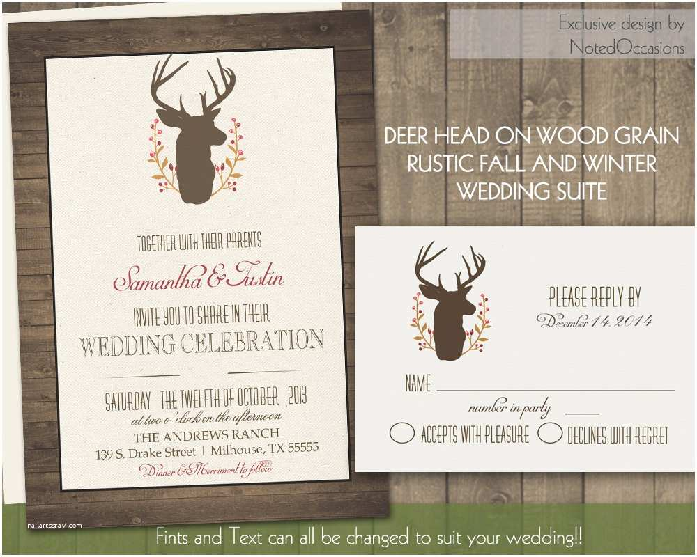 Deer Antler Wedding Invitations Chandeliers & Pendant Lights
