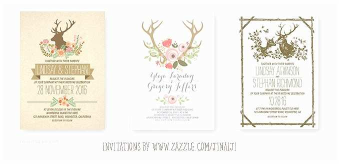Deer Antler Wedding Invitations Deer Wedding Invitation – Romantic Watercolors – Need