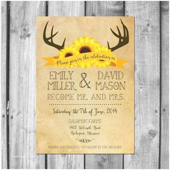 Deer Antler Wedding Invitations Pinterest • the World's Catalog Of Ideas