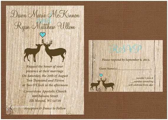 Deer Antler Wedding Invitations Rustic Wedding Invitation Deer Wedding Invitation Antler