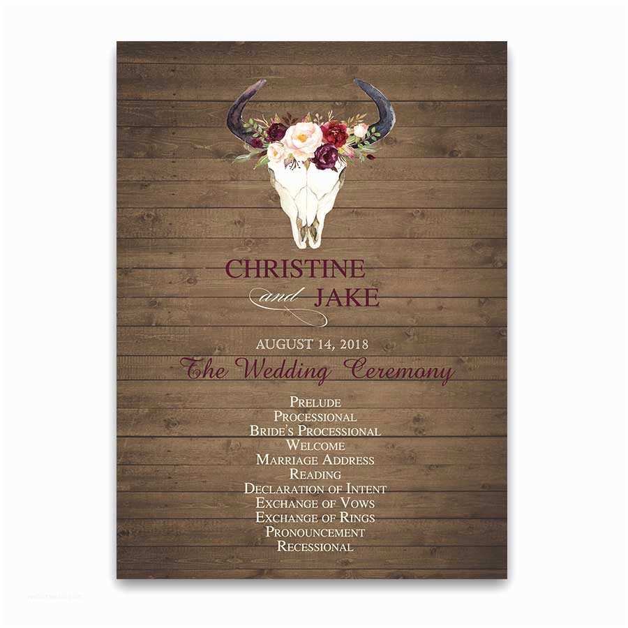 Deer Antler Wedding Invitations Wedding Invitations Floral Deer Skull Antler Burgundy