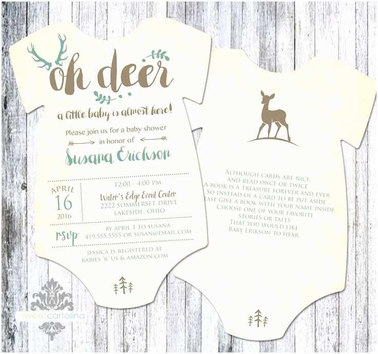 Deer Baby Shower Invitations 19 Best Deer Birthday Baby Shower Invitations Images On