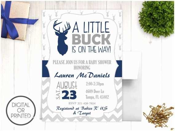 deer baby shower invitations baby boy