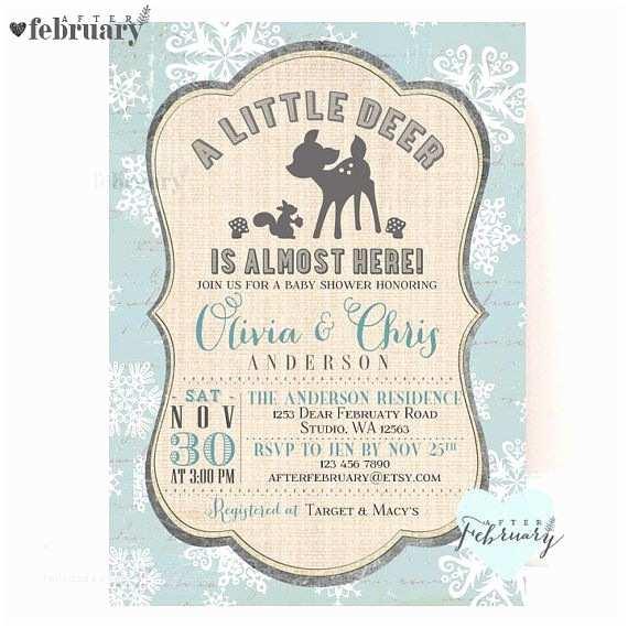 Deer Baby Shower Invitations Deer Baby Shower Invitations – Gangcraft