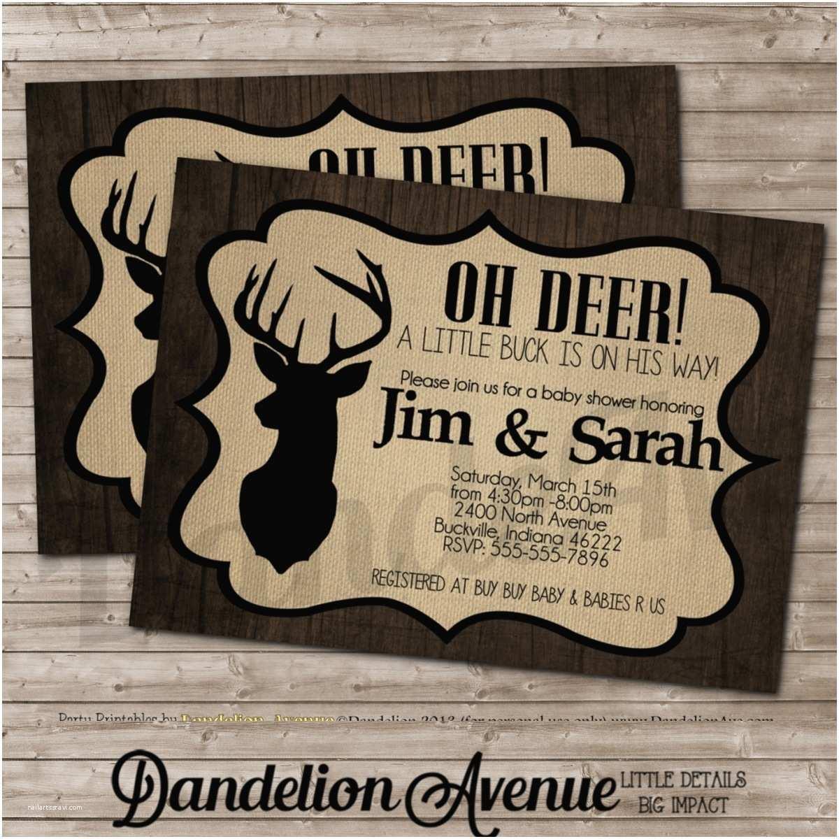 Deer Baby Shower Invitations Deer Baby Shower Invitations
