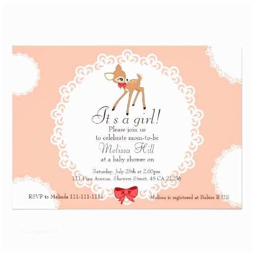 Deer Baby Shower Invitations Little Deer Baby Shower Invitation