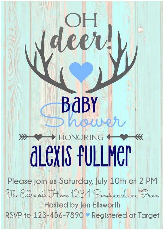 Deer Baby Shower Invitations Printable Oh Deer Baby Shower Invitation by Callacreationsshop