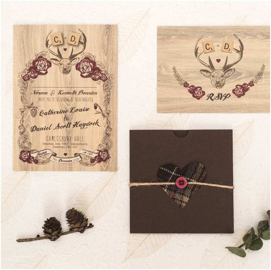 Deer Wedding Invitations Deer Winter Wedding Invitation by something Kinda Cute