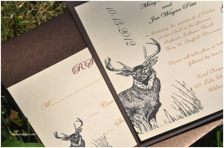 Deer Wedding Invitations Hunting Wedding Invitations Deer Invitations Camo Wedding