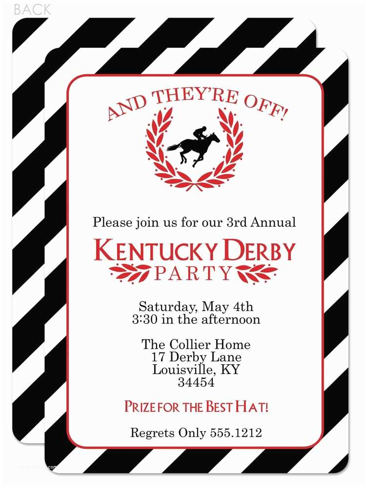 Derby Party Invitations Classic and Beautiful Kentucky Derby Party Invitation I