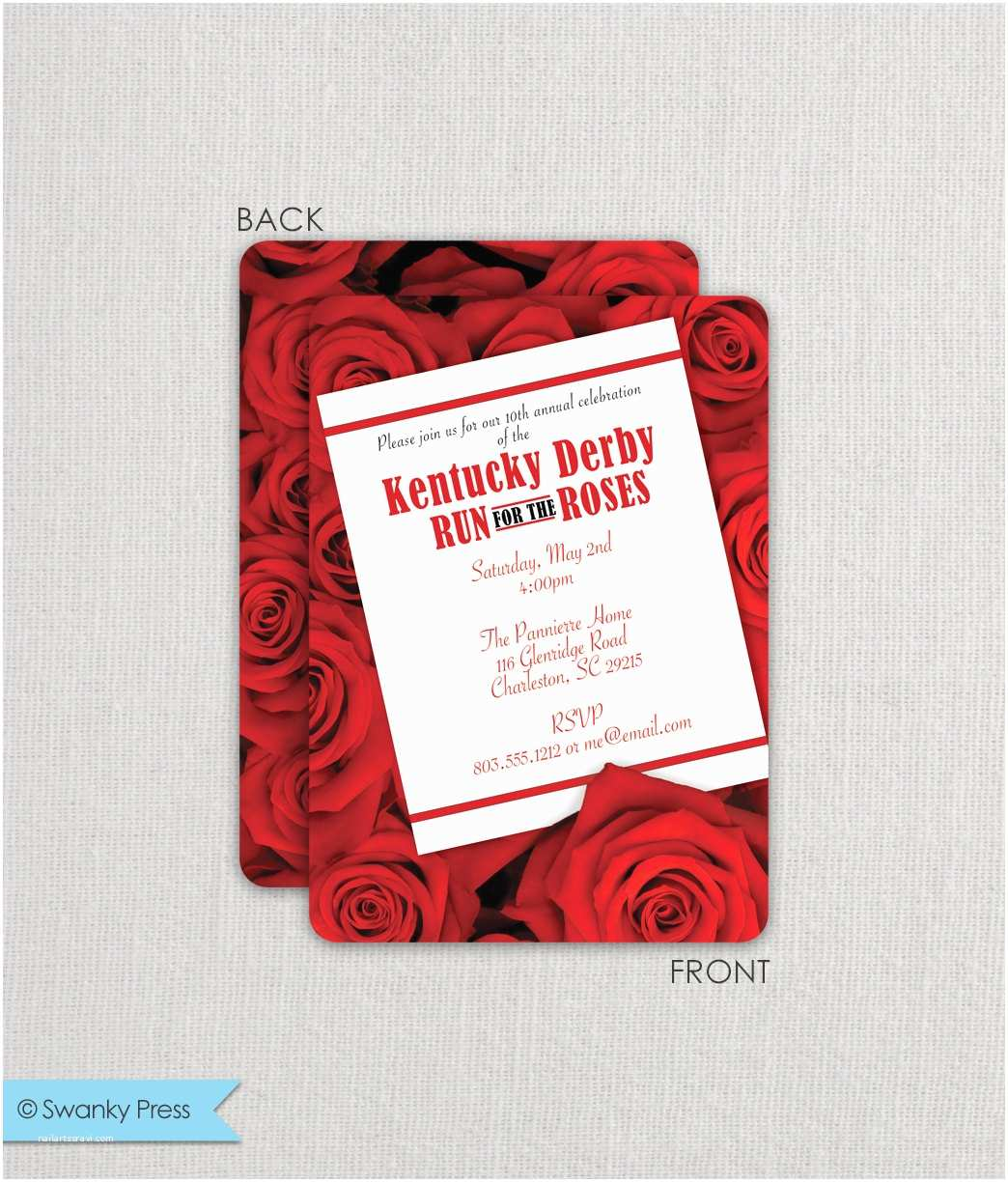 Derby Party Invitations Kentucky Derby Invitation Derby Party Invitation Run for