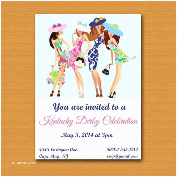 Derby Party Invitations Kentucky Derby Party Invite by Destination Invitation