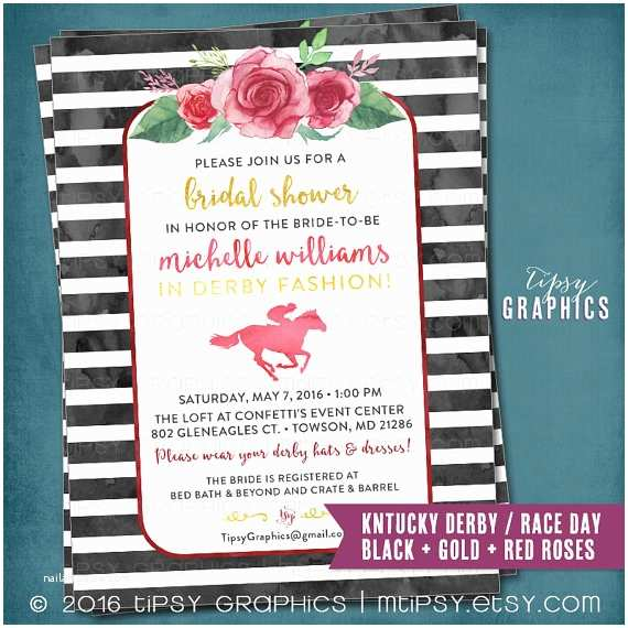 Derby Party Invitations Kentucky Derby Race Day Party Invitation Bridal Shower
