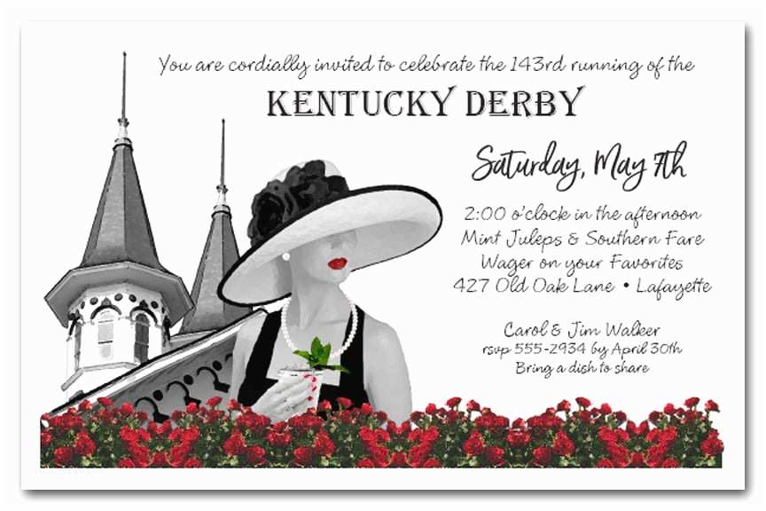 Derby Party Invitations Noir Kentucky Derby Party Invitations