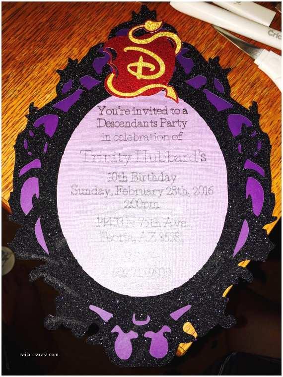 Descendants Party Invitations Descendants Birthday Party Invitation by Hubbarddesignstudio