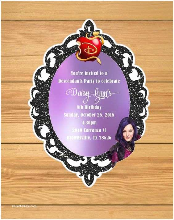Descendants Party Invitations Party Invitations Invitations and Parties On Pinterest