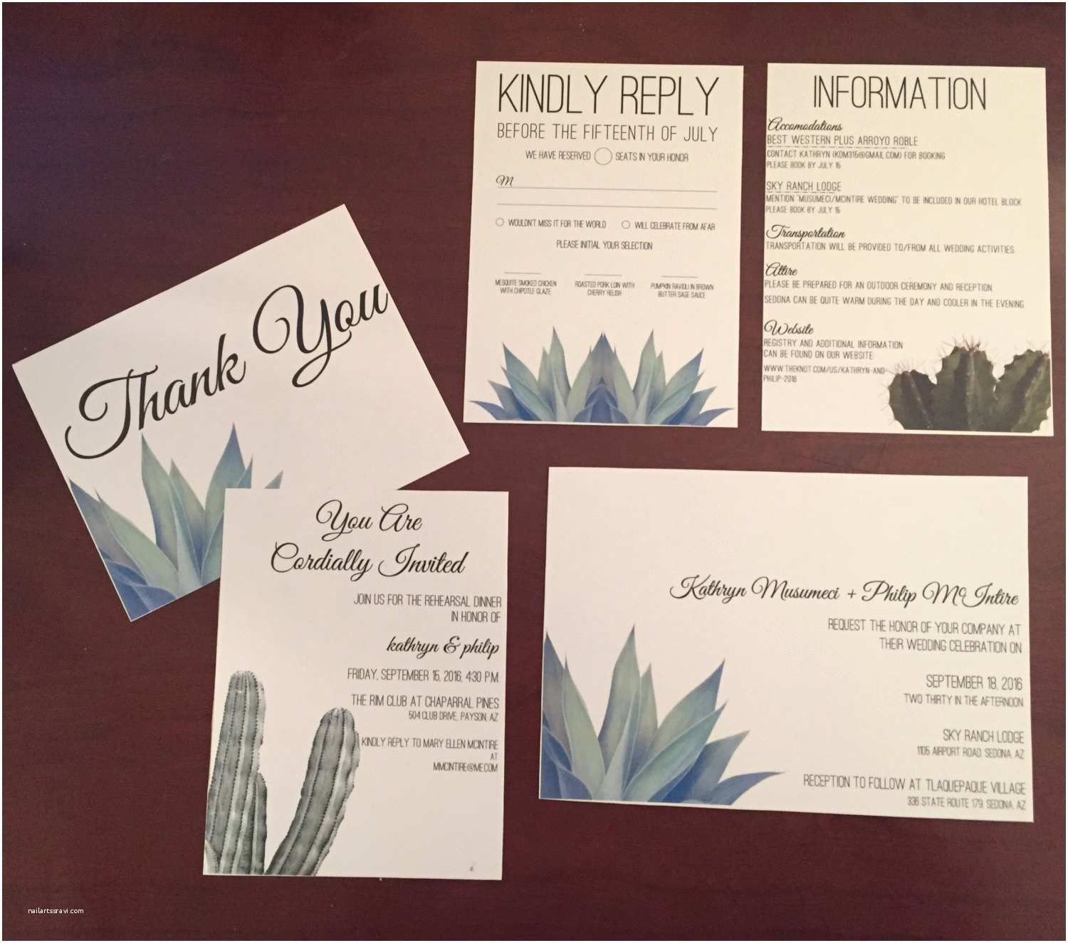 Desert Wedding Invitations Cactus Desert Wedding Invitation Suite & Save the Date