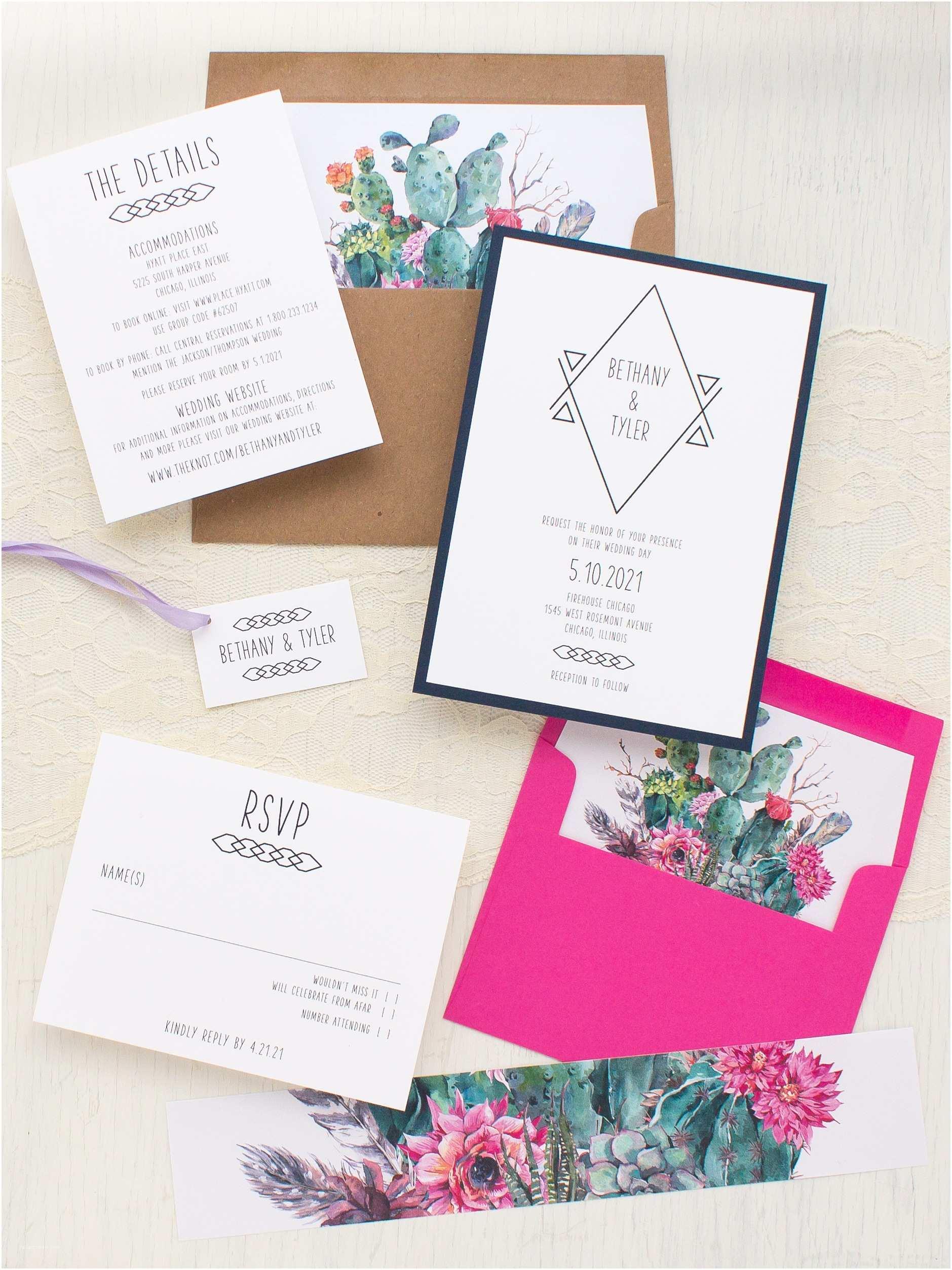 Desert Wedding Invitations Desert Blooms 2 Wedding Invitations