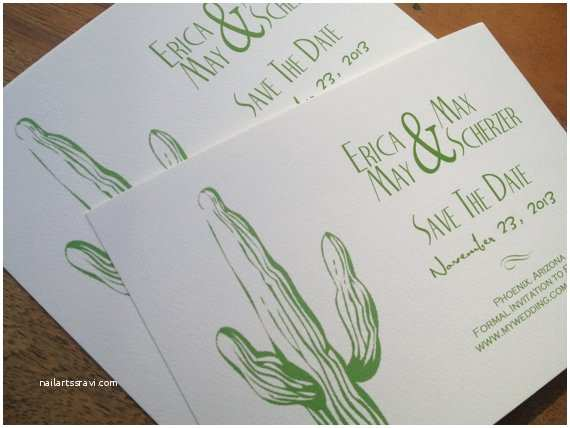 Desert Wedding Invitations Desert Cactus Western Wedding Invitation by Decadentdesigns