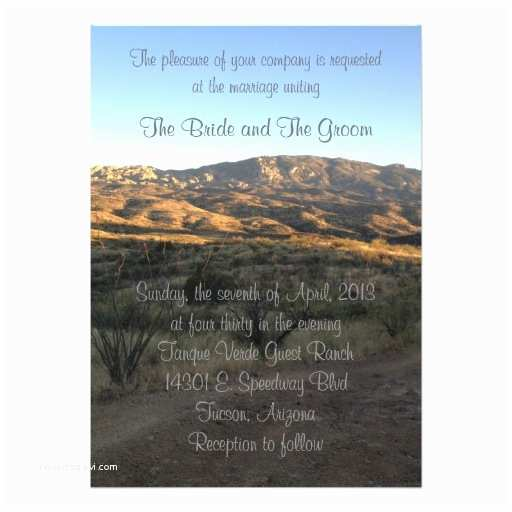 Desert Wedding Invitations Desert Mountain Landscape Wedding Invitation