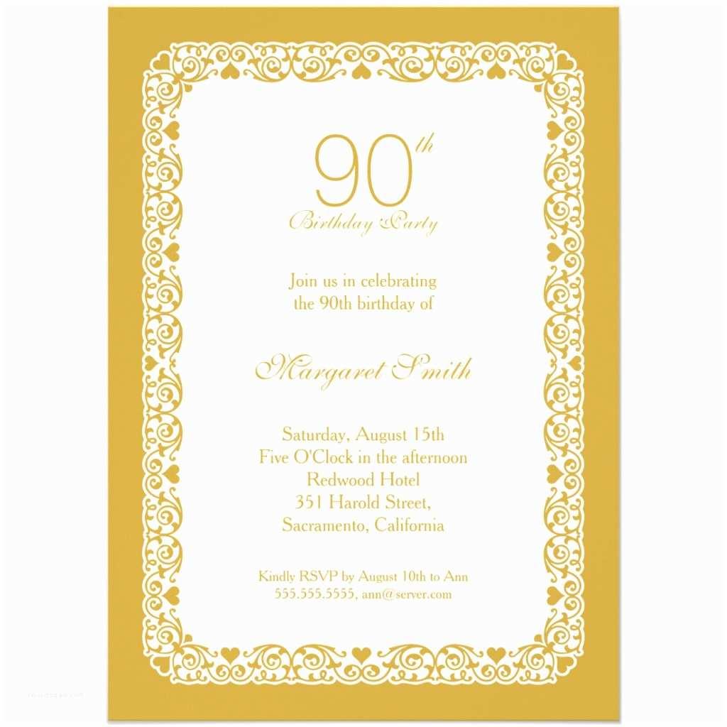 Design Birthday Invitations 90th Birthday Party Invitations