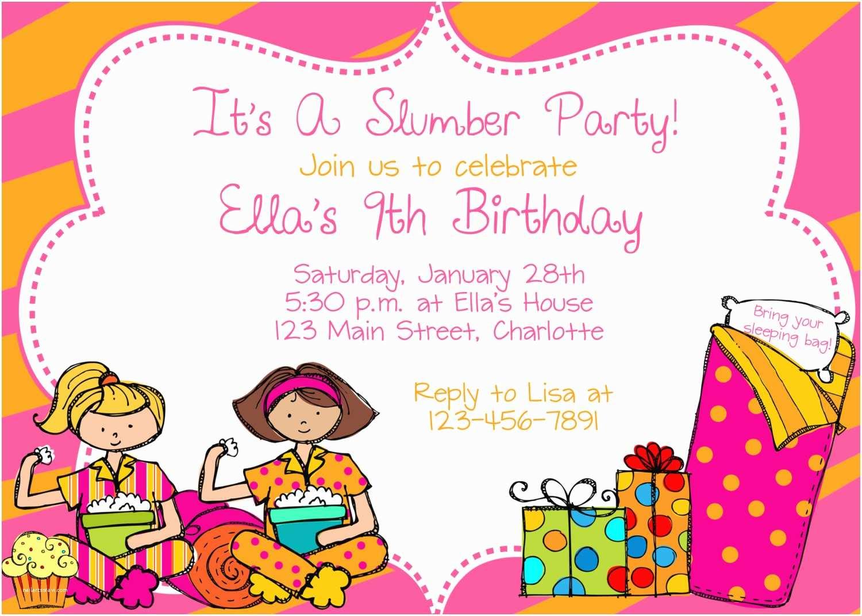 Design Birthday Invitations Sleepover Birthday Party Invitations