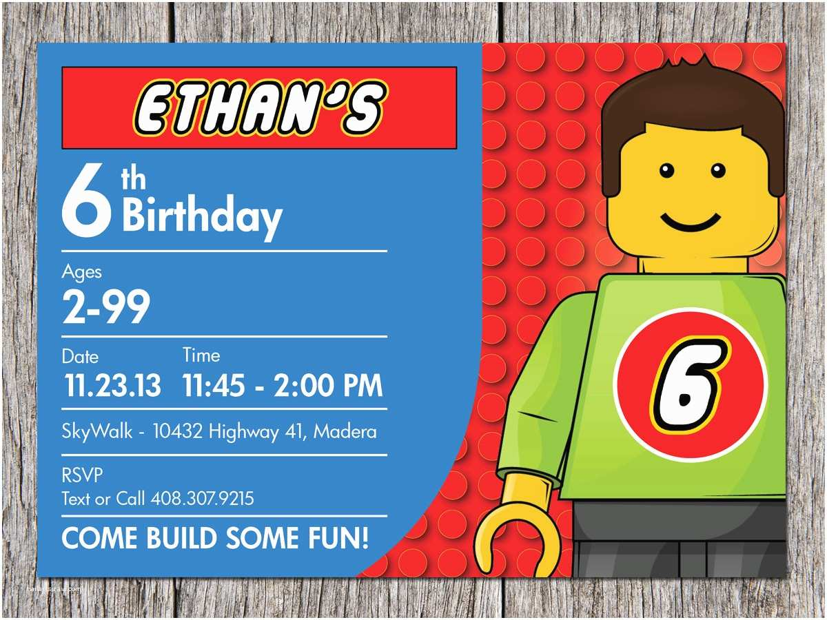 Design Birthday Invitations top 20 Lego Birthday Party Invitations which Popular In