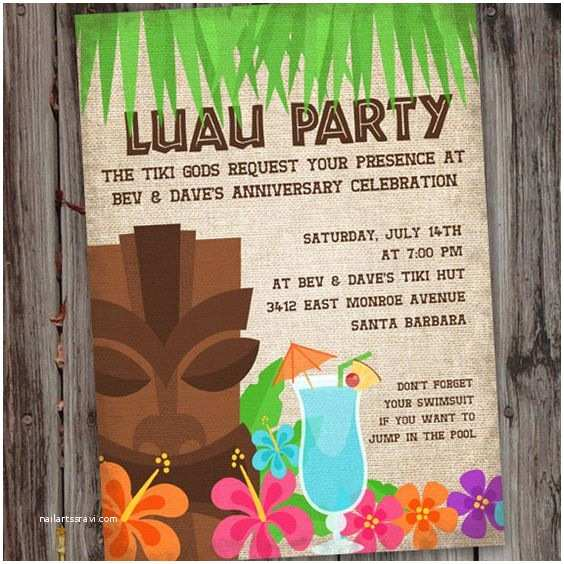 Design Party Invitations 20 Luau Birthday Invitations Designs