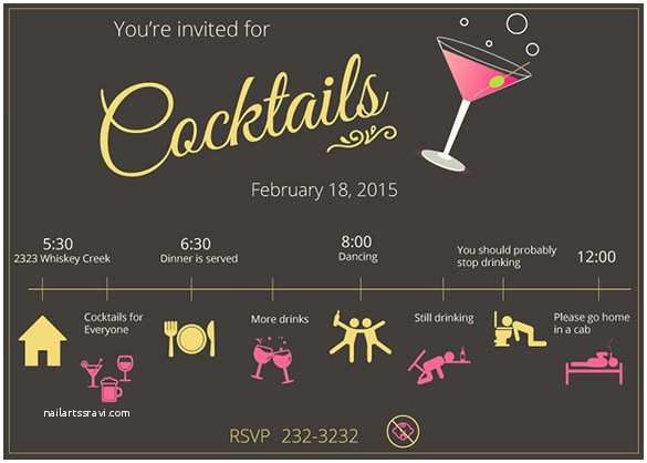 Design Party Invitations Cocktail Party Invitations