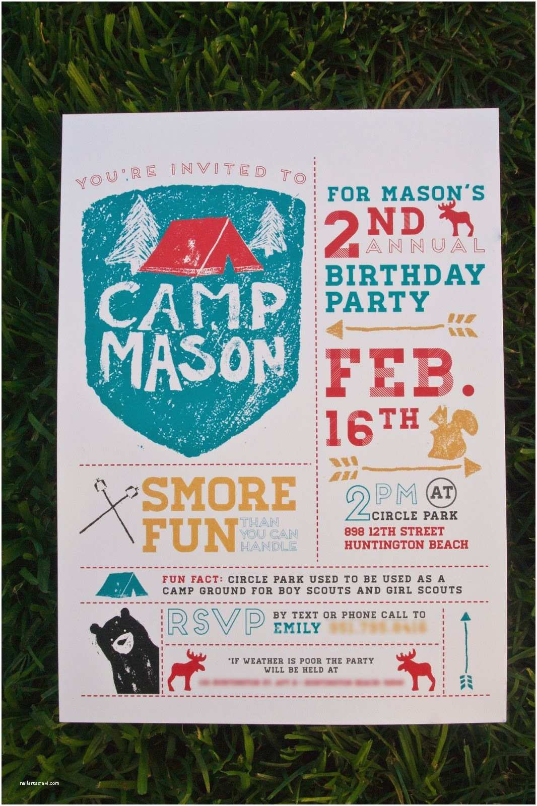 Design Party Invitations Emily Camp Design Design Fancy Camping Party Invitation