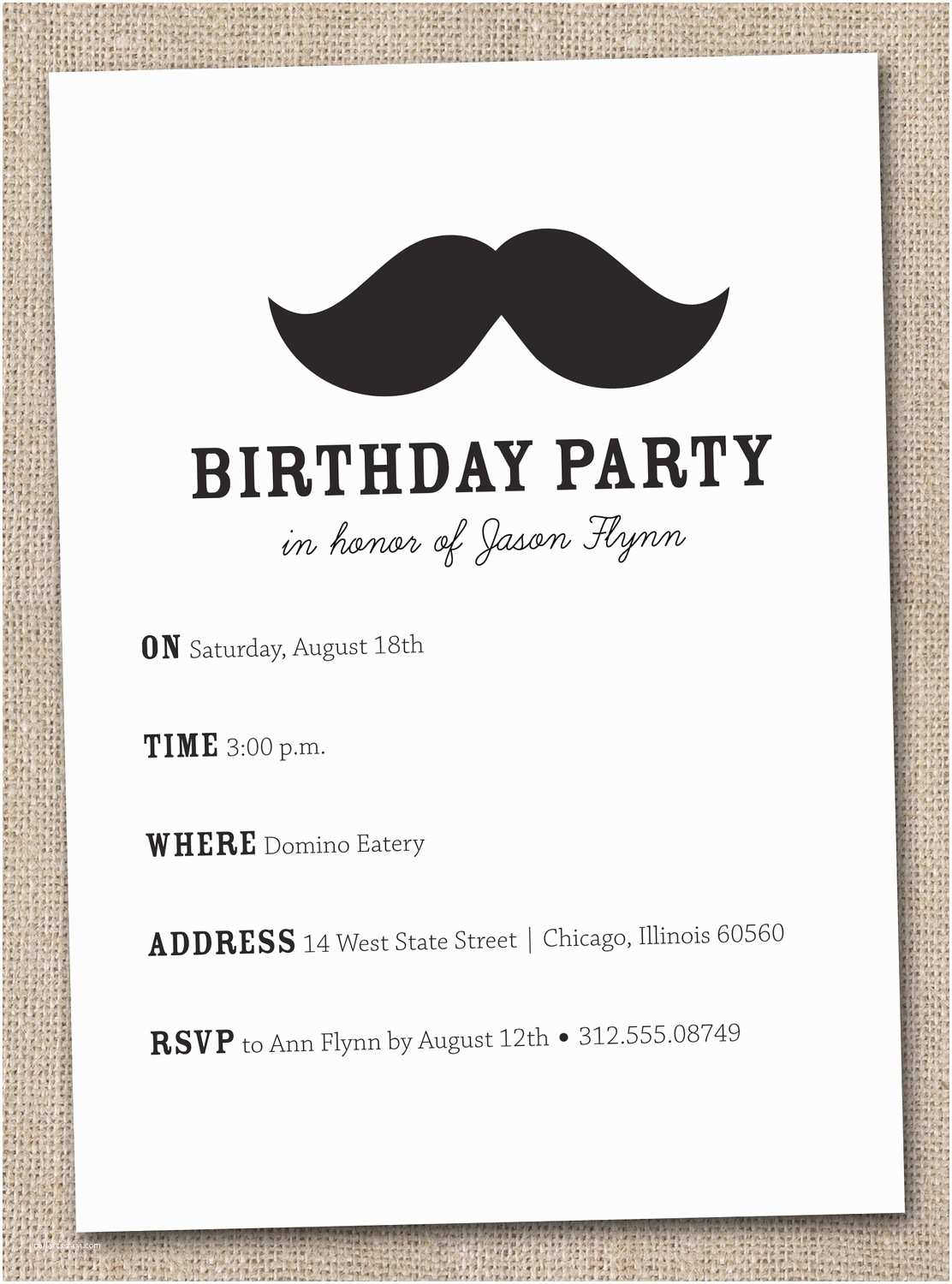 Design Party Invitations Imposing Mustache Birthday Party Invitations