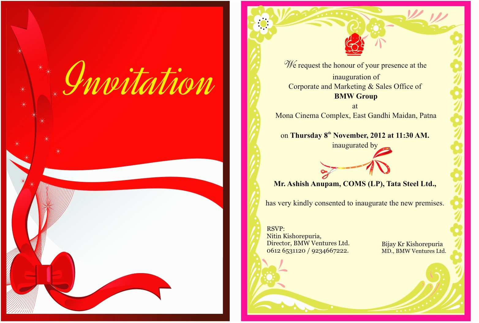Design Party Invitations Inauguration Invitation Templates Cloudinvitation