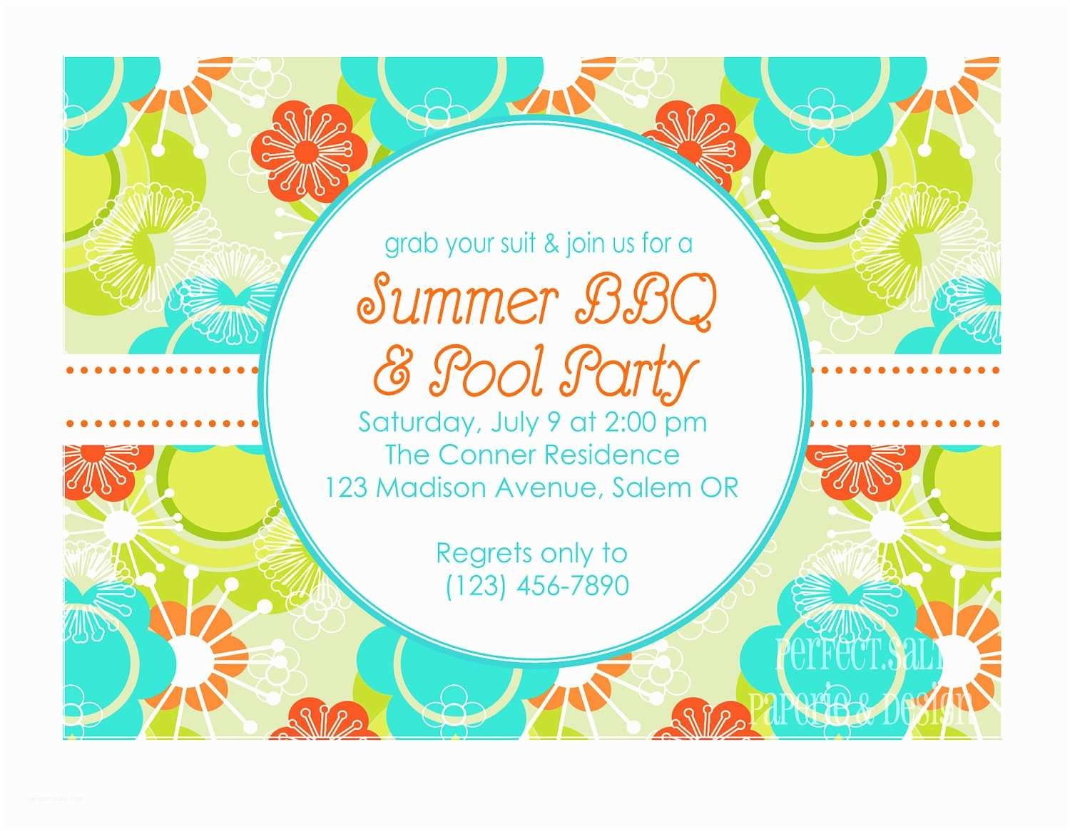 Design Party Invitations Summer Party Invitations