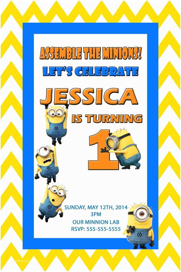 Despicable Me Birthday Invitations 17 Best Images About Despicable Me 2 Movie Birthday