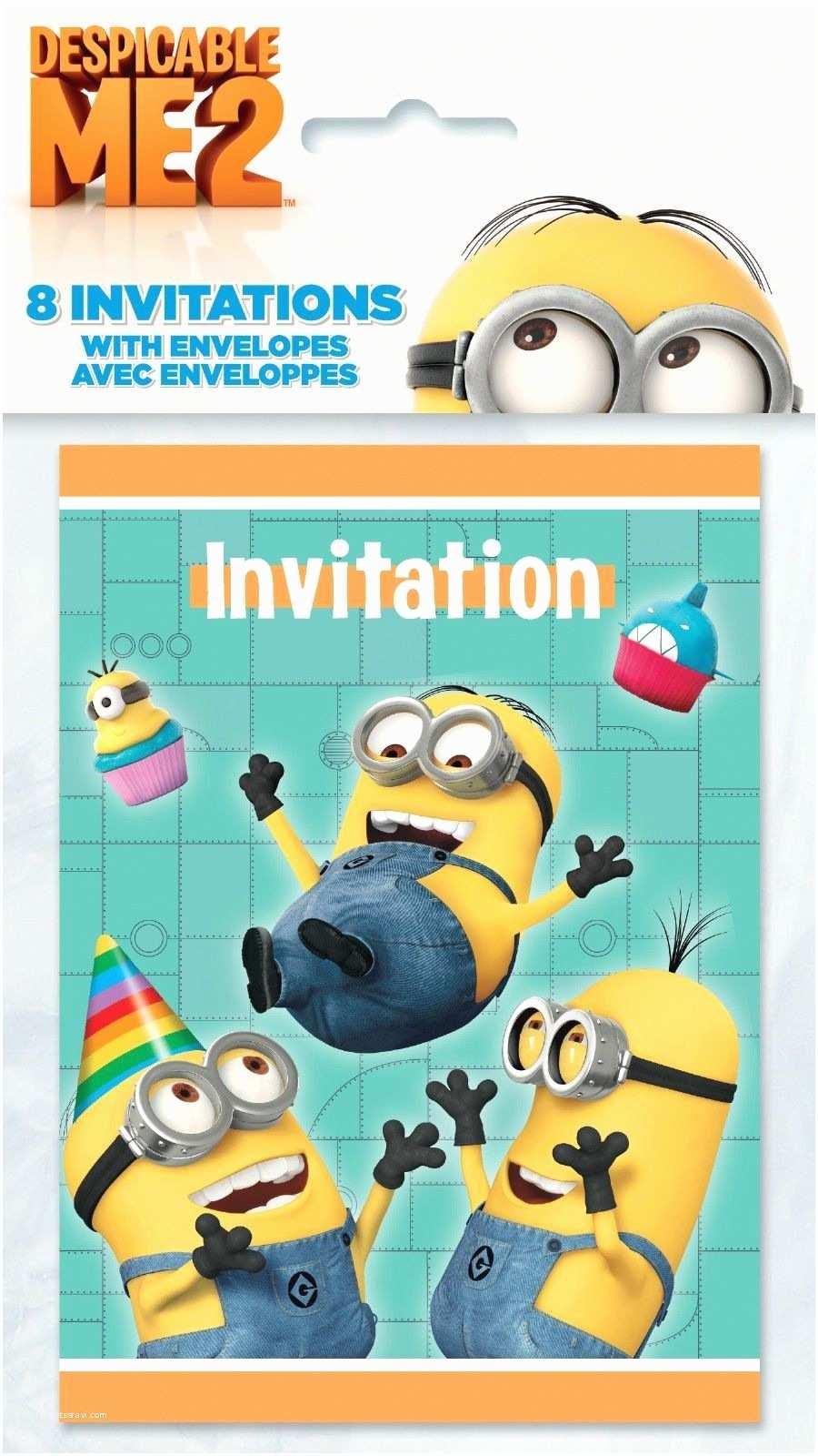 Despicable Me Birthday Invitations Despicable Me 2 Minions Party Birthday Invitations with