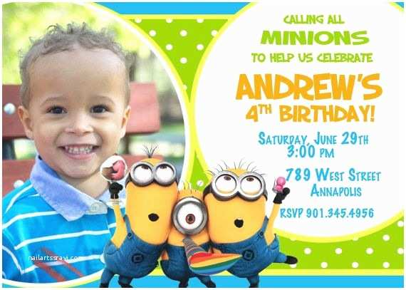 Despicable Me Birthday Invitations Despicable Me Minion Birthday Party Invitation Via Etsy