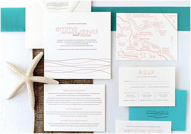 Destination Wedding Invitations Emma David S Beach Inspired Destination Wedding Invitations