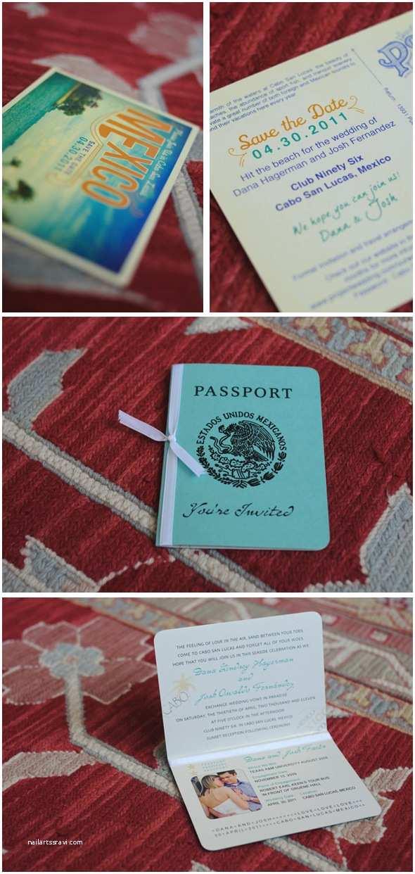 Destination Wedding Invitations Passport Cabo San Lucas Destination Wedding the Destination