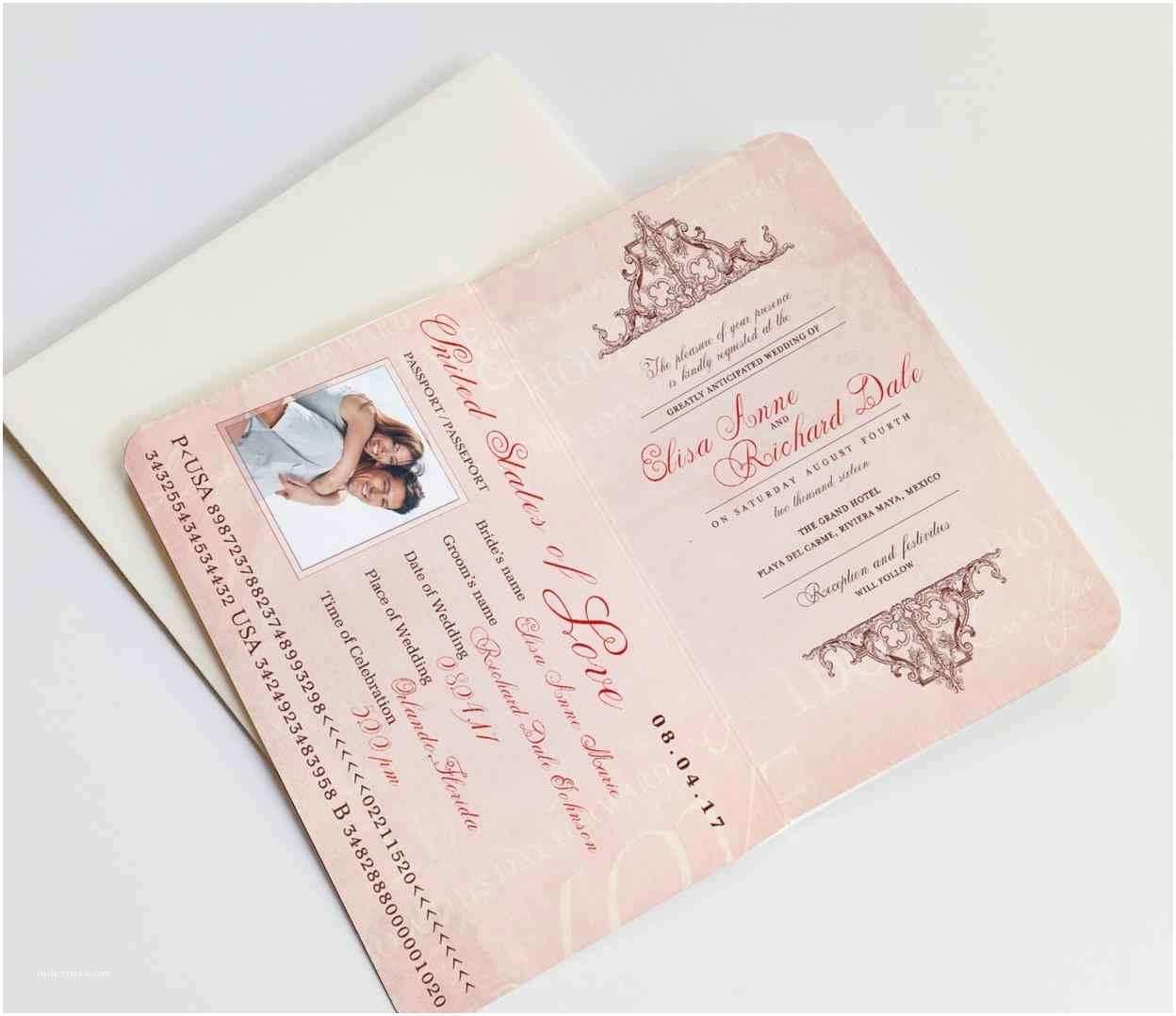 Destination Wedding Invitations Passport Dates and Series Destination Wedding Invitations Passport